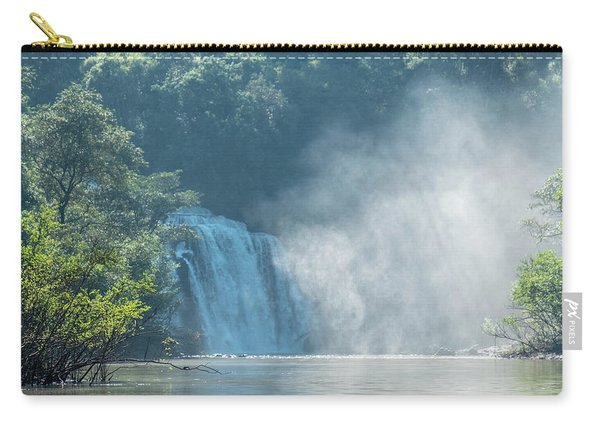Waterfall, Sunlight And Mist Carry-all Pouch
