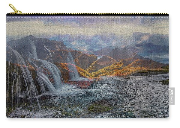 Waterfalls In The Mountains Carry-all Pouch