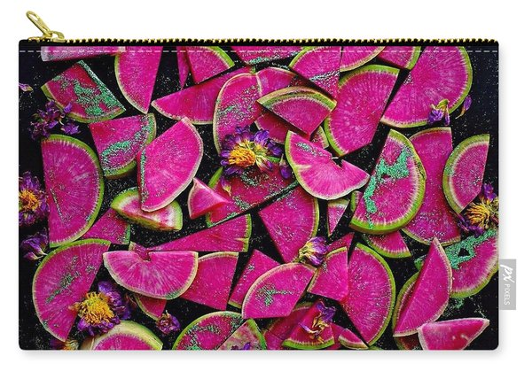 Watermelon Radish Edges Carry-all Pouch