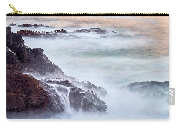 Carry-all Pouch featuring the photograph Wave Falls by Whitney Goodey