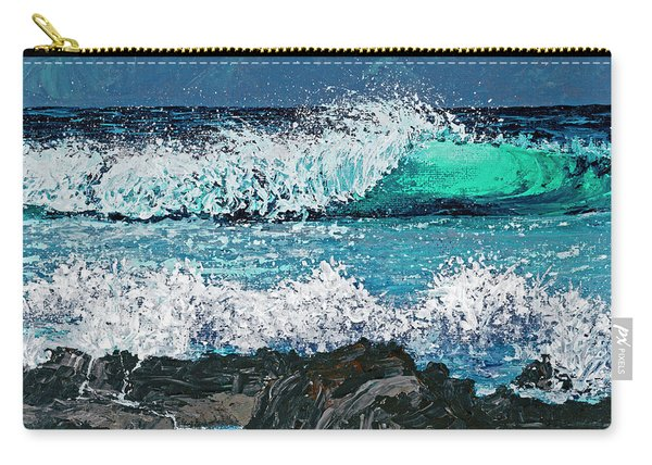 Waves On Napili Bay Carry-all Pouch
