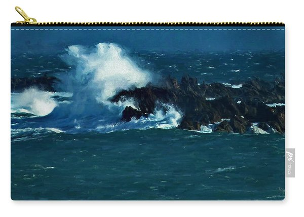 Waves On The Rocks Carry-all Pouch