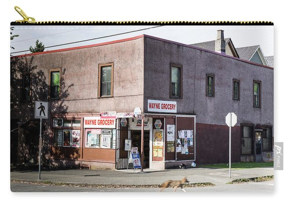 Carry-all Pouch featuring the photograph Wayne Grocery by Juan Contreras