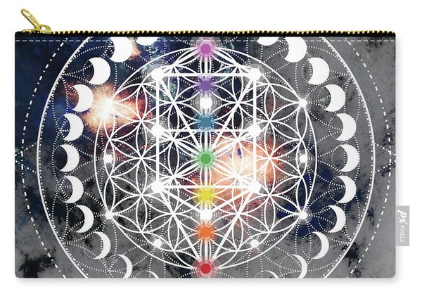 Carry-all Pouch featuring the digital art We Are Beings Of Light by Bee-Bee Deigner