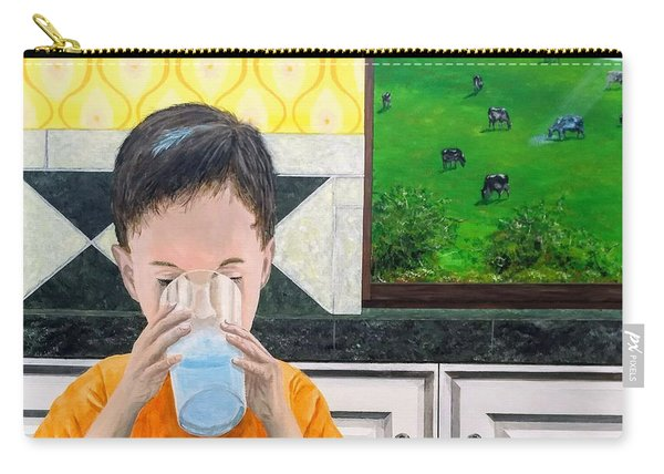 Carry-all Pouch featuring the painting We Are Starstuff by Kevin Daly