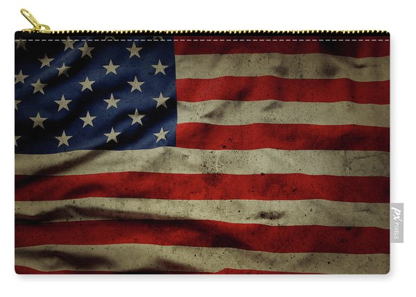 Weathered Old Glory Flag Usa Carry-all Pouch