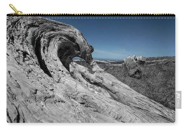 Weathered Wood On The Beach Carry-all Pouch