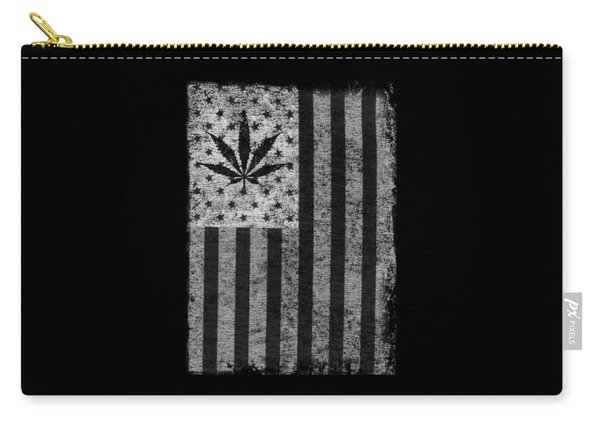 Weed Leaf American Flag Us Carry-all Pouch