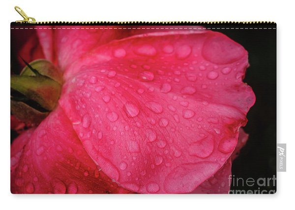 Wet Rose Petal Carry-all Pouch
