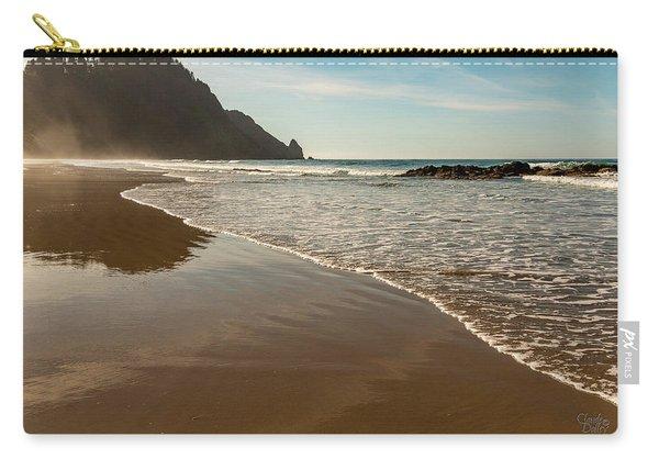 Wet Sandy Beach Carry-all Pouch