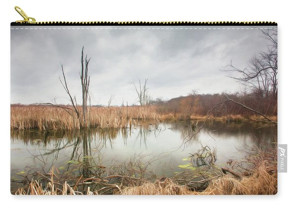 Wetlands On A Dreary Day Carry-all Pouch