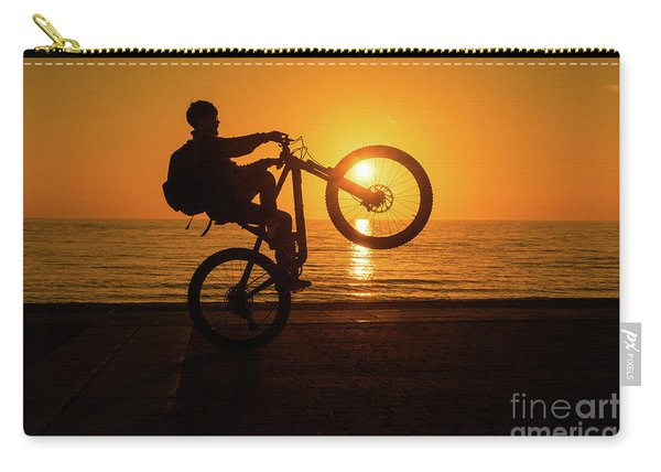 Wheelies At Sunset Carry-all Pouch