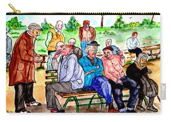When Park Benches Were Filled With People Carry-all Pouch