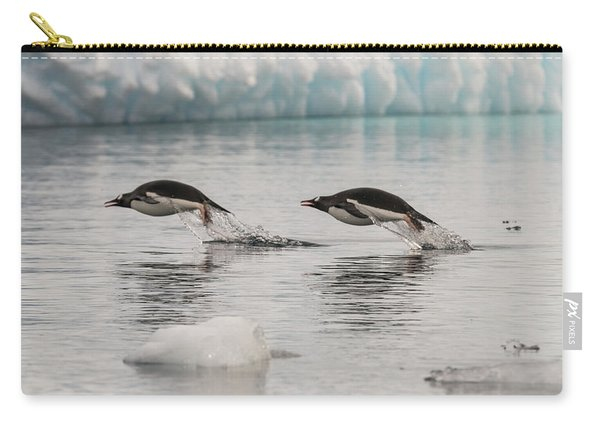 When Penguins Fly Carry-all Pouch