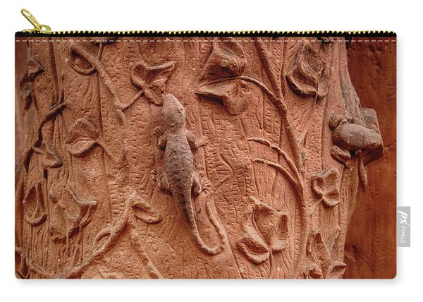 Whimsical And Lifelike Carvings On Heidelberg Castle Carry-all Pouch