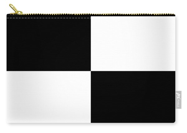 White And Black Squares - Ddh586 Carry-all Pouch