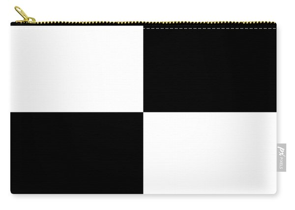 White And Black Squares - Ddh588 Carry-all Pouch