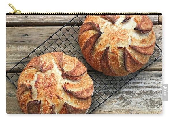 White And Rye Sourdough Swirls Carry-all Pouch