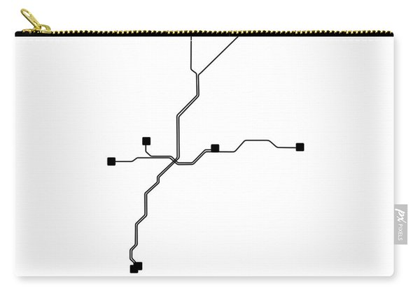 White Atlanta Subway Map Carry-all Pouch