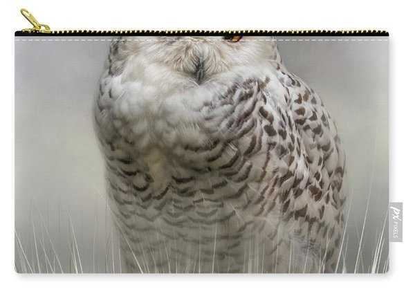 White Beauty In The Field Carry-all Pouch