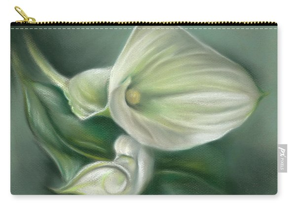 White Callas With Leaf Carry-all Pouch