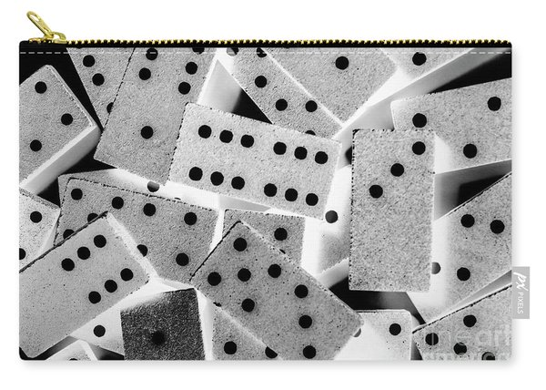 White Dots Black Chips Carry-all Pouch