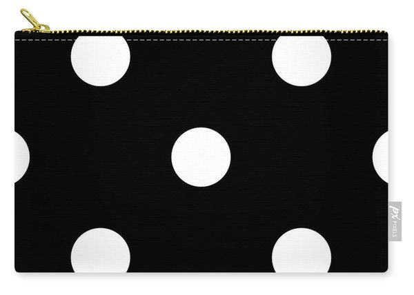 White Dots On A Black Background- Ddh612 Carry-all Pouch