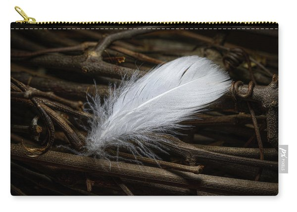 White Feather Carry-all Pouch