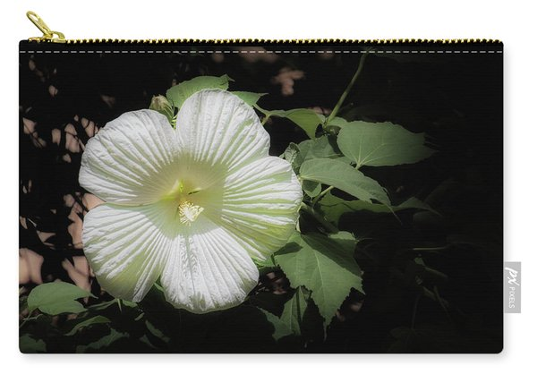 White Hibiscus Carry-all Pouch
