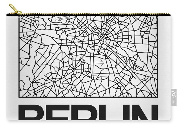 White Map Of Berlin Carry-all Pouch