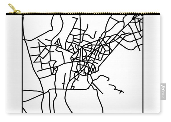 White Map Of Cairo Carry-all Pouch