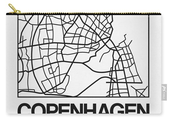 White Map Of Copenhagen Carry-all Pouch