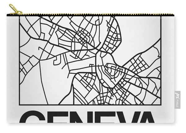White Map Of Geneva Carry-all Pouch