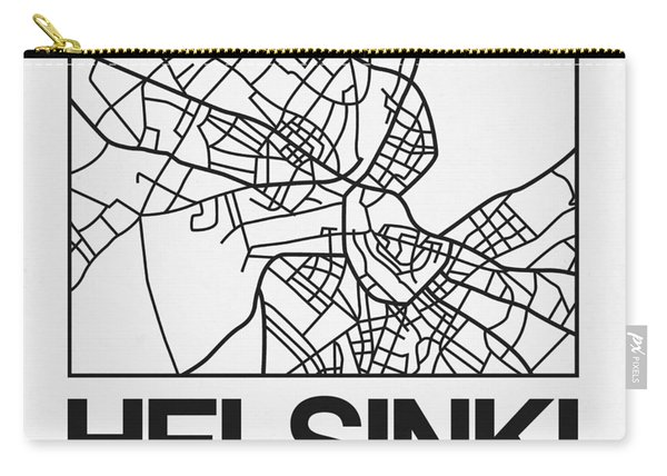 White Map Of Helsinki Carry-all Pouch