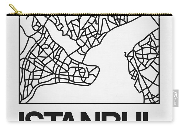 White Map Of Istanbul Carry-all Pouch