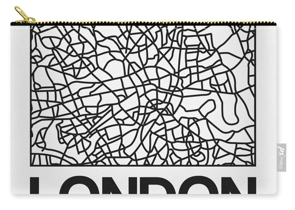 White Map Of London Carry-all Pouch
