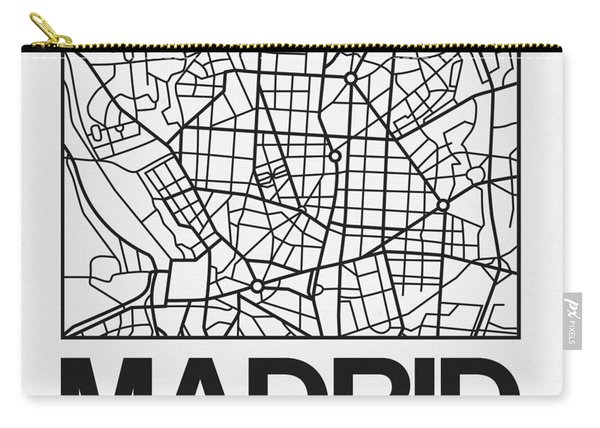White Map Of Madrid Carry-all Pouch