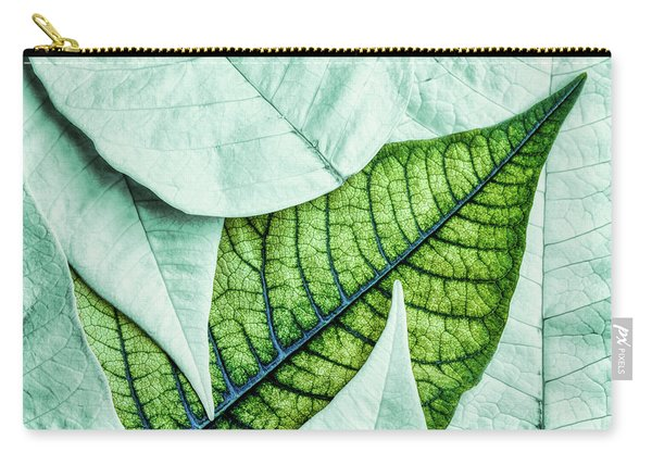 White Poinsetta Macro Carry-all Pouch