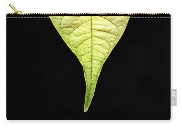 White Poinsettia Leaf Carry-all Pouch