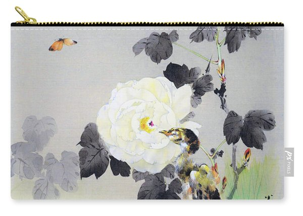 White Roses And Butterflies And Chicks - Digital Remastered Edition Carry-all Pouch