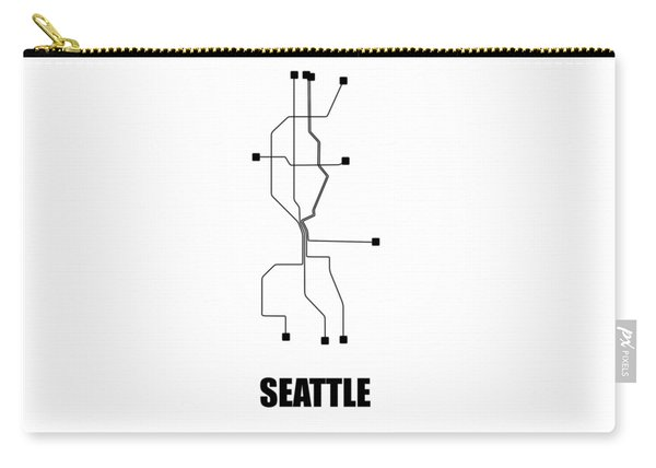 White Seattle Subway Map Carry-all Pouch
