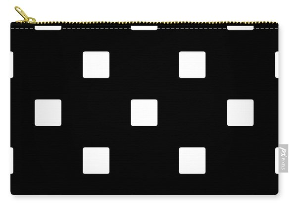 White Squares On A Black Background- Ddh576 Carry-all Pouch