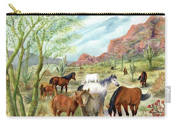 Wild And Free Forever Carry-all Pouch