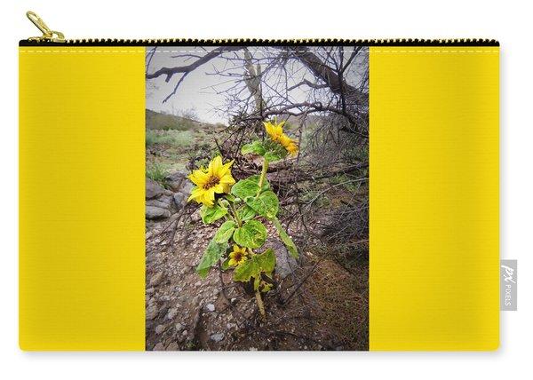 Wild Desert Sunflower Carry-all Pouch