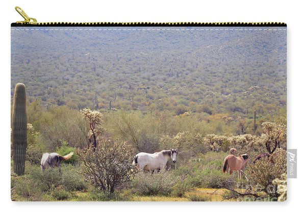 Wild Horses Salt River Arizona Carry-all Pouch
