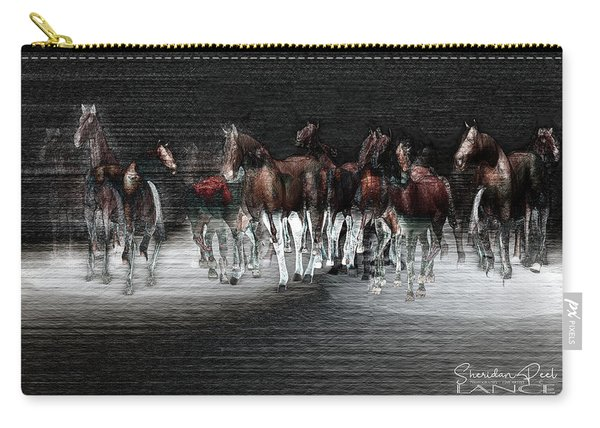 Wild Horses Under Spotlight Carry-all Pouch