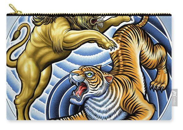 Wild Lion And Tiger  Carry-all Pouch