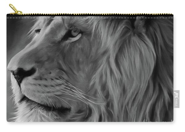 Wild Lion Face Carry-all Pouch
