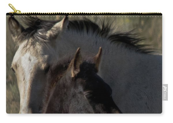 Carry-all Pouch featuring the photograph Wild Mustangs Of New Mexico 4 by Catherine Sobredo