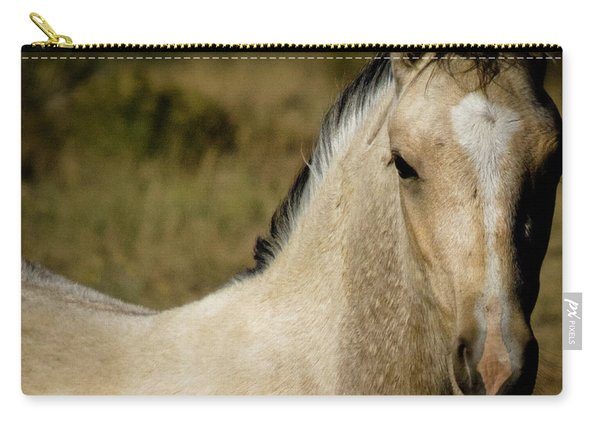 Carry-all Pouch featuring the photograph Wild Mustangs Of New Mexico 5 by Catherine Sobredo